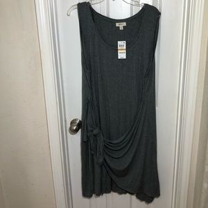 Style & Co Gray Side Tie Sleeveless Dress Size 3X